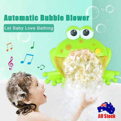Kid Baby Bubble Tub Frog Automatic Shower Machine Blower Maker Bath Music Toy CB