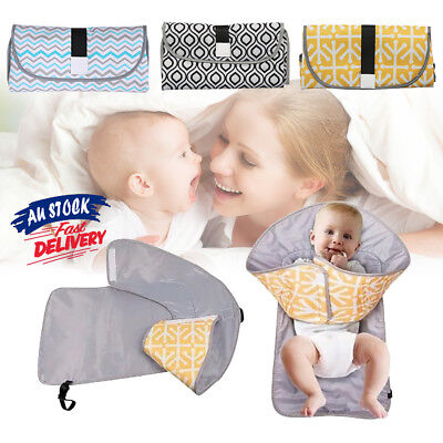 Waterproof Baby Diaper Travel Home Change Pad Changing Mat 3-in-1 Organizer Bag