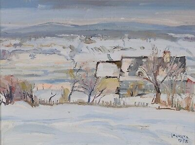 FRANCESCO Frank IACURTO Painting Quebec Winter Landscape Canadian Listed RCA