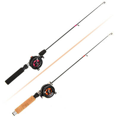 Carbon Portable Winter Combo Pen Pole  Reels Ice Fishing Rods Retractable