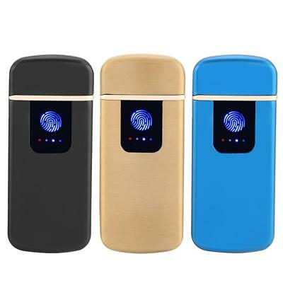 USB Rechargeable Dual Arc Plasma Windproof Flameless Cigarette Lighters Torch