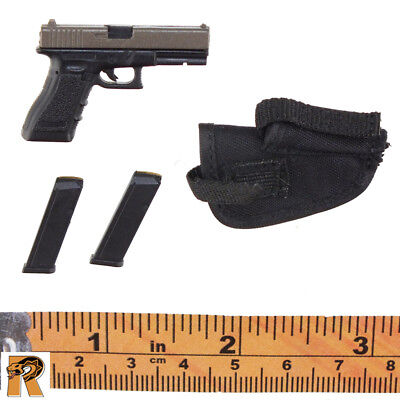 1//6 Scale Feel Toys Female Commando Viper Two Tone Sig Pistol /& Hip Holster