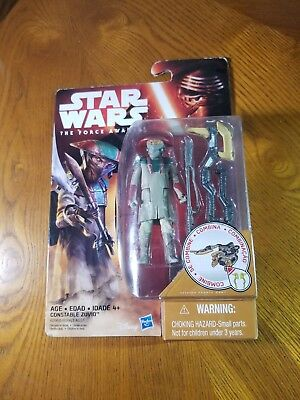 Star Wars The Force Awakens 3.75-Inch Figure Desert Mission Constable Zuvio +axe