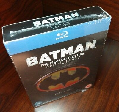 Batman:The Motion Picture Anthology 1989-1997 (Blu-ray Region Free)NEW-Free S&H