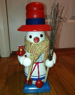 Original Steinbach Snowman Nut Cracker Hand Made Germany No Box
