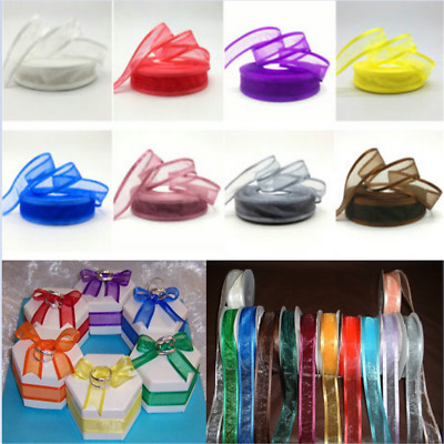 "5 yards 1"" (25mm) Satin Edge Organza Ribbon Bow Wedding Decoration Lace Crafts"
