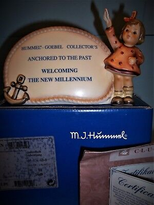 """Rare Hummel""""anchored To The Past Plaque""""#820 • Tmk8 • 120 Only Made-Mint In Box"""