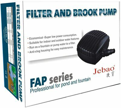 Jebao FAP Pond Filter Pump Solids Handling Energy Saving Koi Fish Filtration