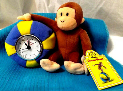 CURIOUS GEORGE Plush BALL CLOCK By APPLAUSE Gift New with tags & New battery