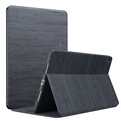 """Wooden Leather For Apple iPad Air 1 2 3 4 Pro 9.7"""" Stand Flip Case Smart Cover"""