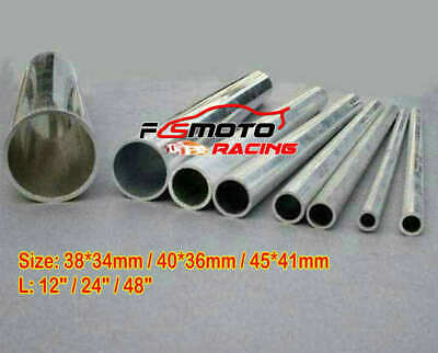 Straight Aluminium Round Hollow Pipe Tube 34mm 38mm 36/40mm 41/45mm Select Size