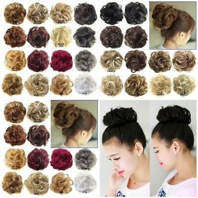 Fashion Wig Hair Ring Curly Bride Makeup Bun Flowers Chignon Ponytail Hairpiece
