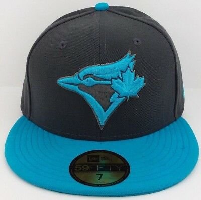 Toronto Blue Jays MLB New Era 59FIFTY fitted/hat/cap/throwback/Turquoise Blue