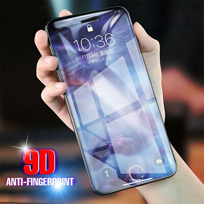 New 9D Tempered Glass Full Screen Protector Film For iPhone 7 8 Plus X XR XS MAX