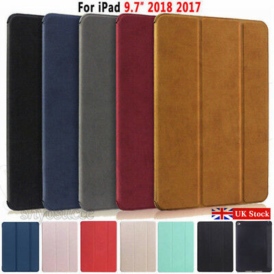 "UK For New iPad (5/6th Generation 2017) 2018 9.7"" Suede/Leather Smart Case Cover"