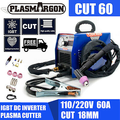 IGBT Digital 60A Plasma Cutter Machine & AG60 Torch & Free Consumables 1-18mm