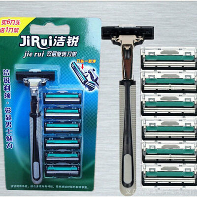 Men's Traditional Safety Razor and Double Edge Blades Classic Shaving & POUCH