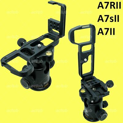 Sony A7II A7RII A7sII Alloy Quick Release L-Bracket Vertical Hand Grip L-Plate