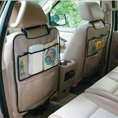 Auto Car Seat Back Protector Storage Bag Cover For Children Kick Mat Transparent