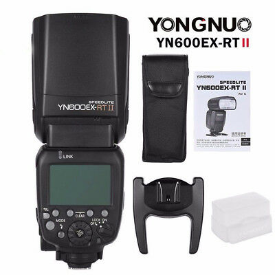 Yongnuo YN600EX-RT II E-TTL HSS Wireless Master Flash Speedlite for Canon Camera