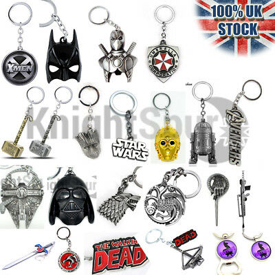 High Quality Key Rings Chains  Marvel Game of Thrones Star Wars Venom Dead Pool