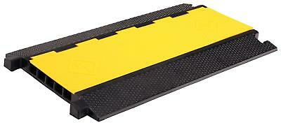 Rubber 5-Channels Cable Protector Car Ramp Bump Safety Cover Heavy Duty Max 7.5T
