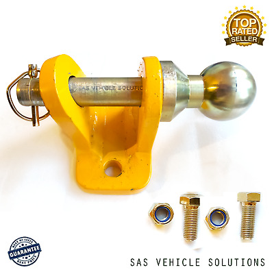 50mm UNIVERSAL TOWBALL + SLIDING HITCH PIN COUPLING TOWING JAW TRAILER 3500kg