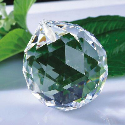 Clear Faceted Glass Crystal Ball Prism Chandelier Parts Hanging Pendant