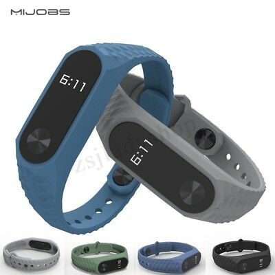 Mijobs Aurora  Soft Silicone Replacement Spare Band Strap for XIAOMI MI Band