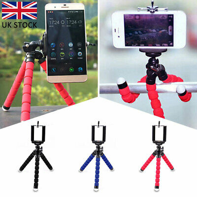 Universal Mini Mobile Phone Tripod Stand Grip Holder Mount For iPhone Camera UK