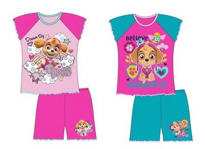 Girls Childrens Skye Pjs Pyjamas Short Nightwear Paw Patrol Gift Pajamas