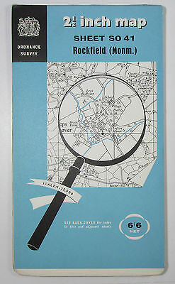 1956 vintage OS Ordnance Survey 1:25000 First Series Map SO 41 Rockfield (Monm)
