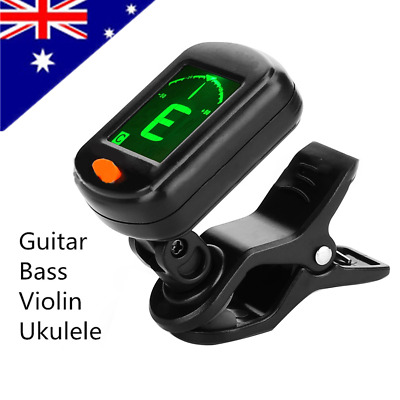 AU! Digital Chromatic LCD Clip-On Electric Tuner for Bass Guitar Ukulele Violin