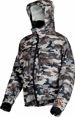SAVAGE GEAR CAMO Jacket Windproof Waterproof All Sizes Predator Boat ... e9f0e6e6b5