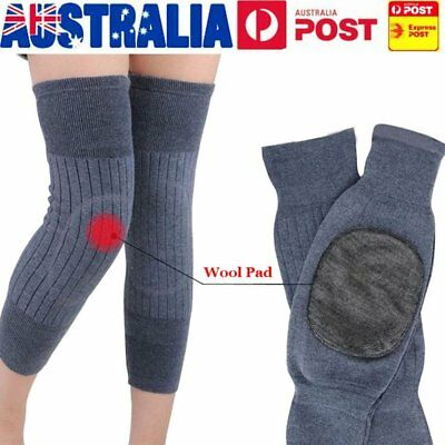 Heater Knee Warmer Sleeves Kneecap Wool Leg Sleeve Winter Warm Thermal HeatingS2