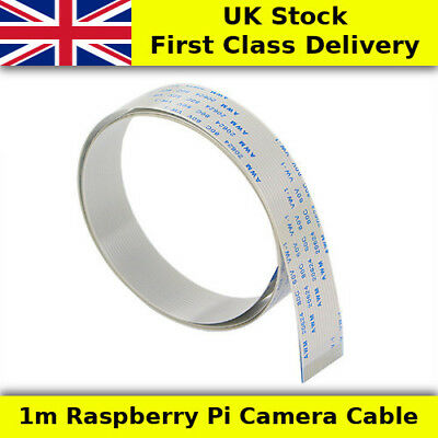 1M Meter Long Raspberry Pi Flexible Camera Cable FPC/FFC 15 Way - UK First Class
