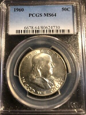 1960 Franklin Half Dollar PCGS MS64