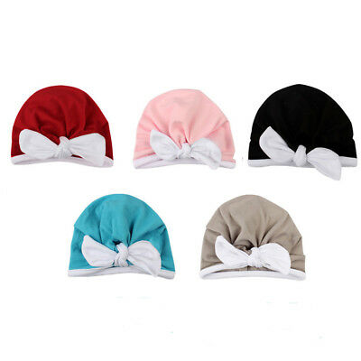 Newborn Infant Toddler Comfy Bowknot Hospital Cap Keep Warm Winter Hat gift CB