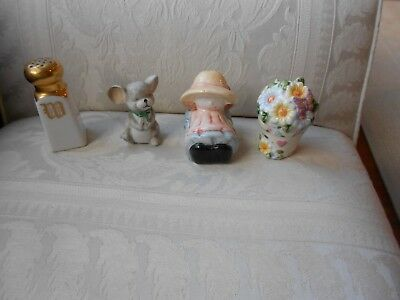 Vintage  Salt and/or Pepper individual Shakers Lot of  4