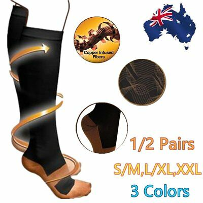 Women Men Knee High Nurse Medical Compression Travel Work Sport Socks StockinS6