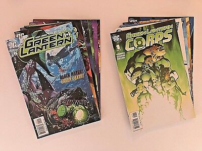GREEN LANTERN / GREEN LANTERN CORPS Lot Of 13 - Geoff Johns - Sinestro Corps War