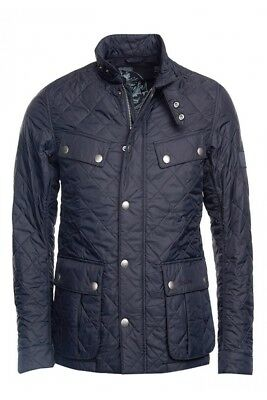 Barbour International Mens Ariel Quilted Jacket - Navy - Small