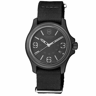 Victorinox Original Black Dial Canvas Strap Men's Watch 241517