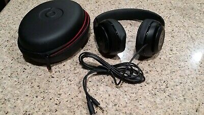 Beats By dr Dre Studio 2.0 wired headphone Over Ear headband Black color New .