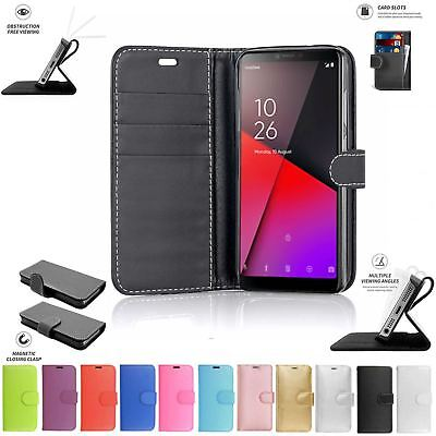 For Vodafone Smart X9 Flip Book Pouch Cover Case Wallet Leather Phone [Black]