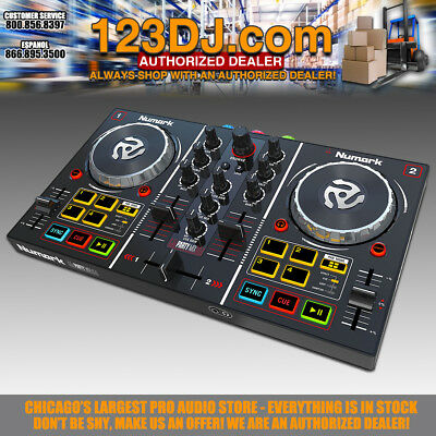 Numark Party Mix Virtual DJ Controller with Built-In Light Show