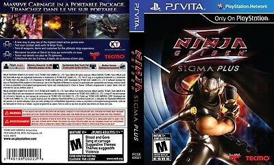 Sony PlayStation Vita Replacement Case and Cover Ninja Gaiden Sigma Plus