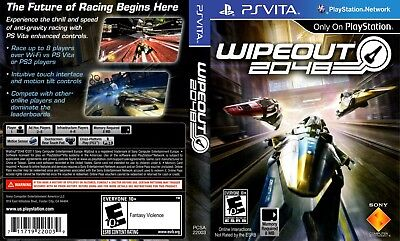 Sony PlayStation Vita Replacement Case and Cover WipEout 2048