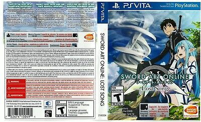 Sony PlayStation Vita Replacement Case and Cover Sword Art Online Lost Song