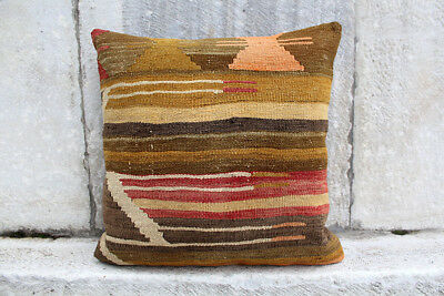 Handmade Kilim PILLOW CUSHION COVER -40-60 years Kilim Rug Anatolian Turkish 24""